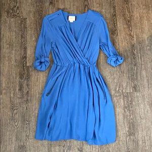 Blue anthropology dress